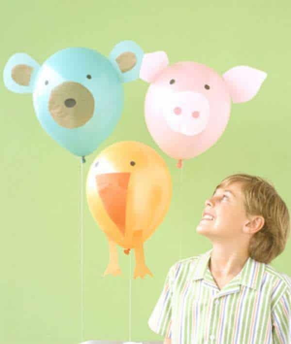 fiestas infantiles decorar con globos de helio