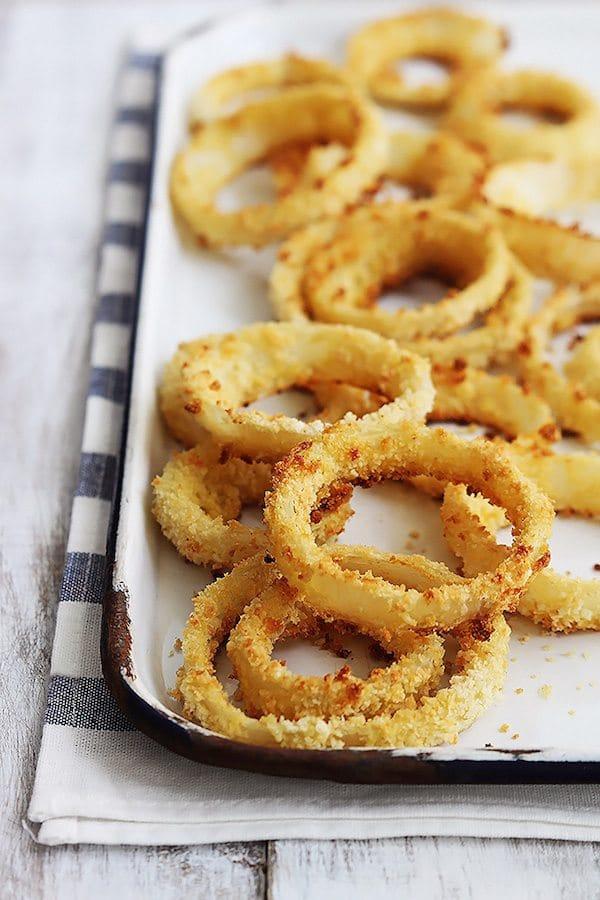 Aros de cebolla al horno