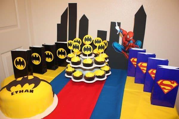 Fiestas infantiles de superman y batman pequeocio - Imagenes decoracion fiestas infantiles ...
