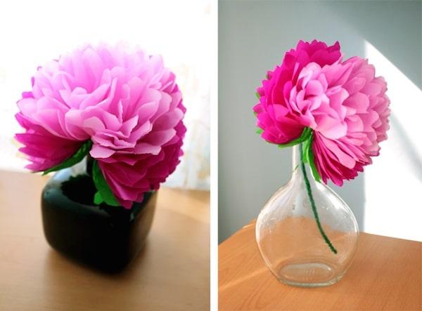 Como Hacer Una Flor De Papel Muy Facil Pequeociocom - Hacer-flores-con-papel