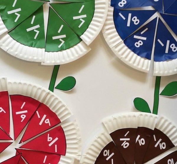 5 Manualidades Infantiles Para Aprender Fracciones Pequeocio Com