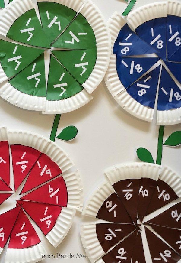 Manualidades infantiles para aprender fracciones