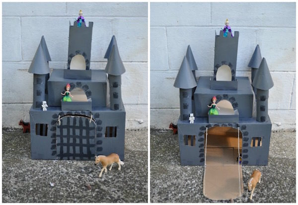 Manualidades con cart n 4 castillos para jugar - Manualidades castillo medieval ...