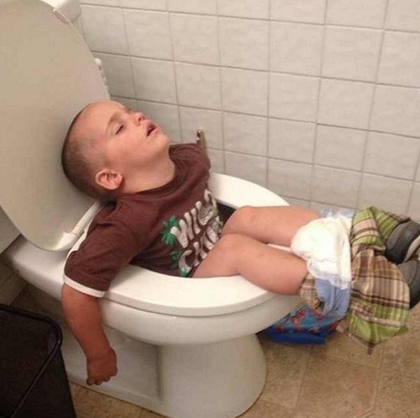 Fotos divertidas de peques durmiendo