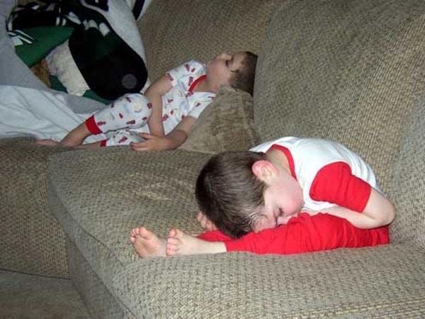 Fotos divertidas de niños durmiendo