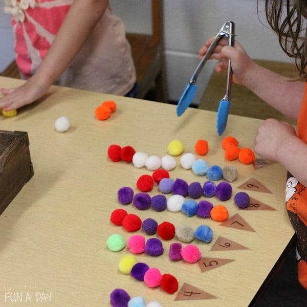 Manualidades para niños para aprender números