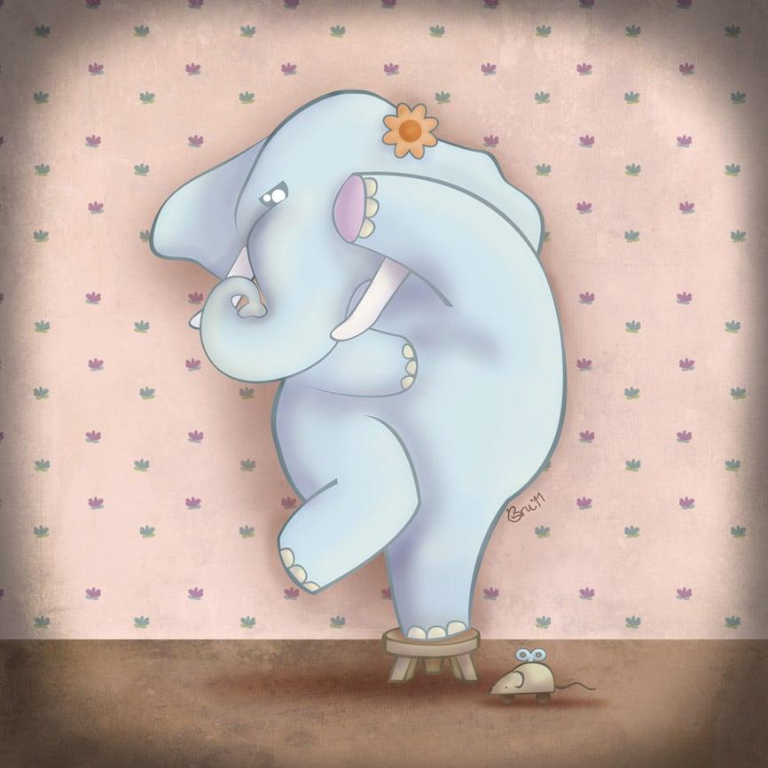 Cuentos infantiles: El miedo de la elefantita Amaranta