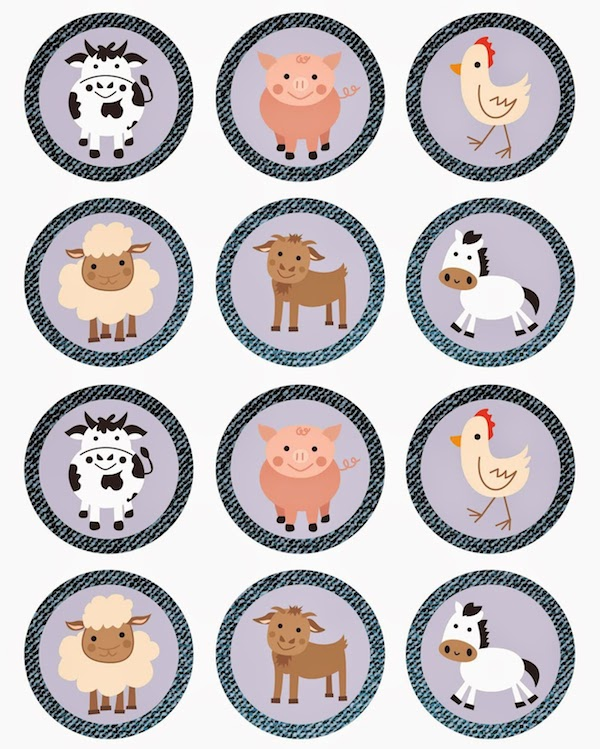 Imprimibles gratis para fiestas infantiles ¡de animales