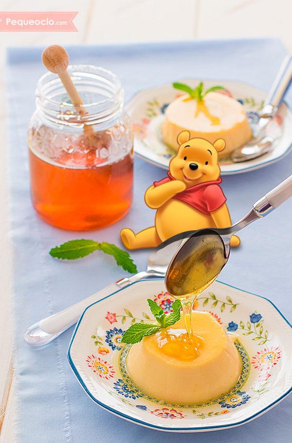 flan de miel receta disney