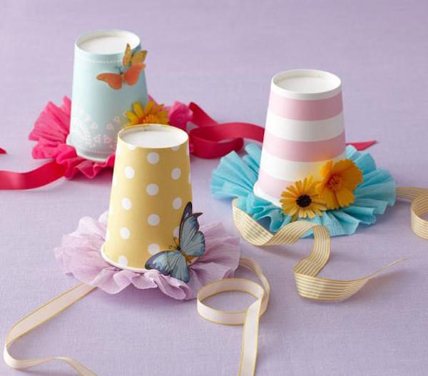 tea party craft ideas manualidades f 225 ciles con vasos desechables pequeocio 5538