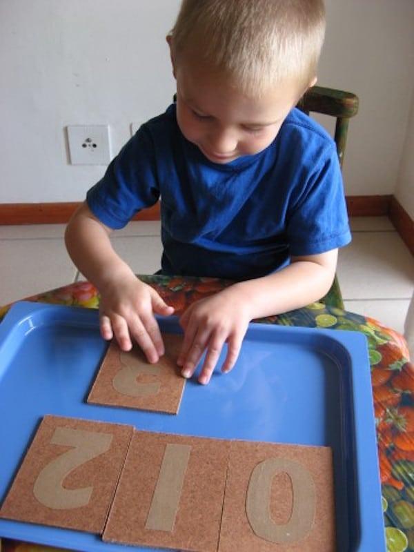 Aprender números con Montessori