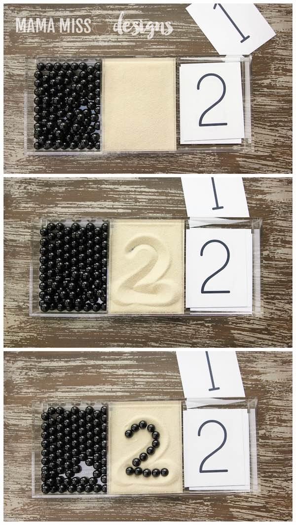Aprender los números con el método Montessori