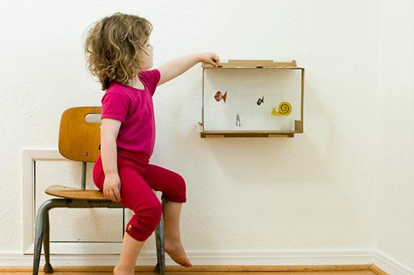 manualidades infantiles: acuario de carton