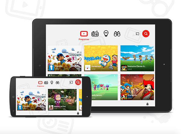 contienidos infantiles YouTube Kids