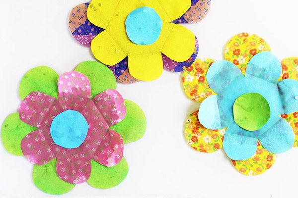 para nios flores de papel que florecen