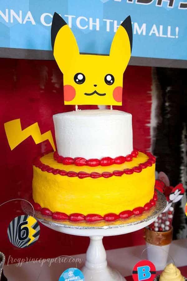 cumpleaos infantiles de pokmon la tarta fiestas infantiles