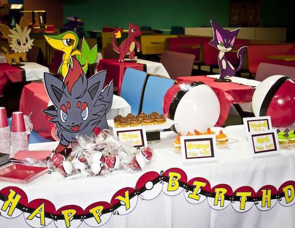 Cumpleaños infantiles de Pokémon