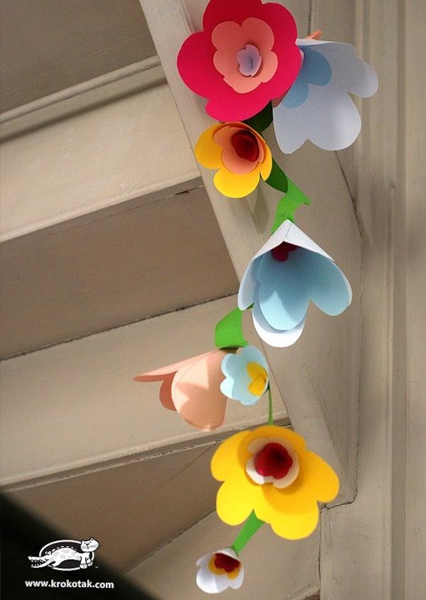 Гирлянда из цветов из бумаги своими руками фото 88