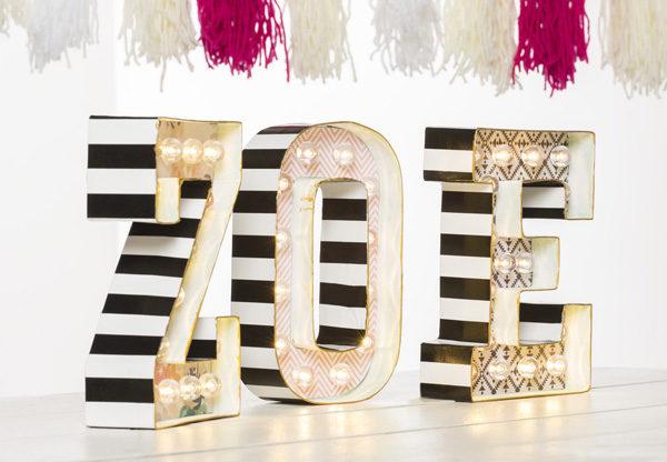 C mo hacer letras luminosas f ciles y econ micas pequeocio - Letras luminosas decoracion ...