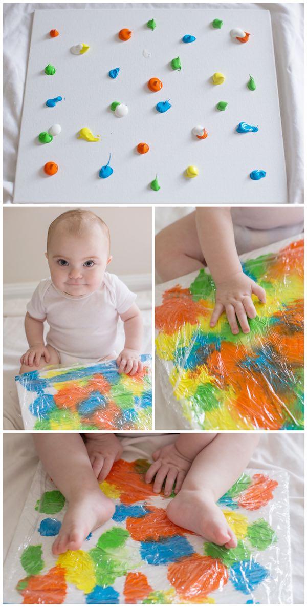 Manualidades para bebes pintura
