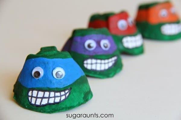 7 Manualidades Para Ninos De Las Tortugas Ninja Pequeocio Com