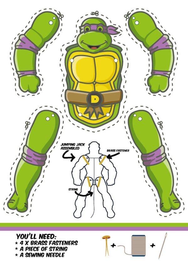 Manualidades Para Nios de Las Tortugas Ninja Pequeocio