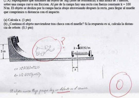 Respuestas divertidas en los exámenes