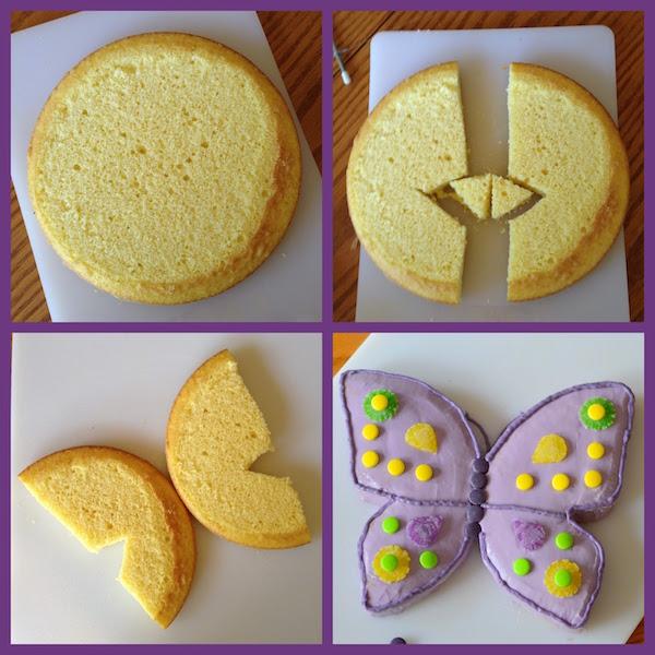 Cómo hacer una tarta mariposa