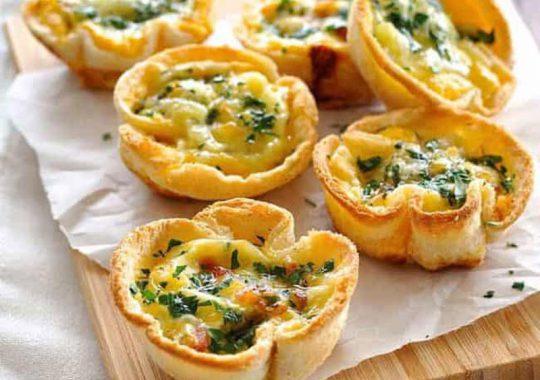 Tartaletas con pan de molde 2