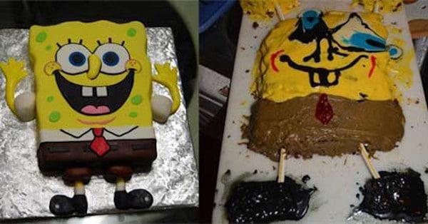 Tartas de cumpleaños expectativa vs realidad