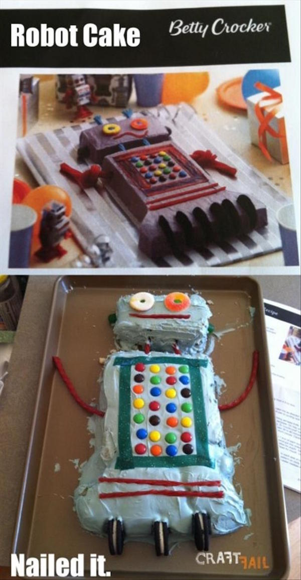 Tartas de cumpleaños fallidas