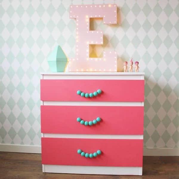 Muebles infantiles 5 cajoneras personalizadas pequeocio - Tiradores para muebles infantiles ...