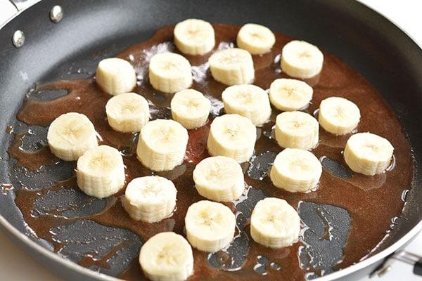 Plátanos caramelizados con canela 2