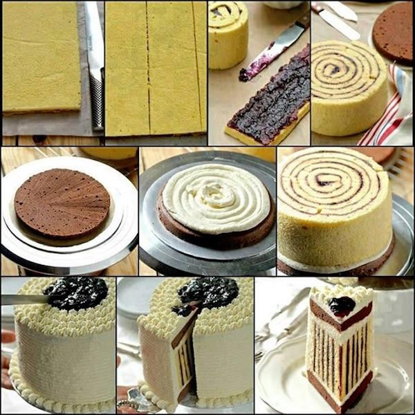 Tarta de cumpleaños vertical