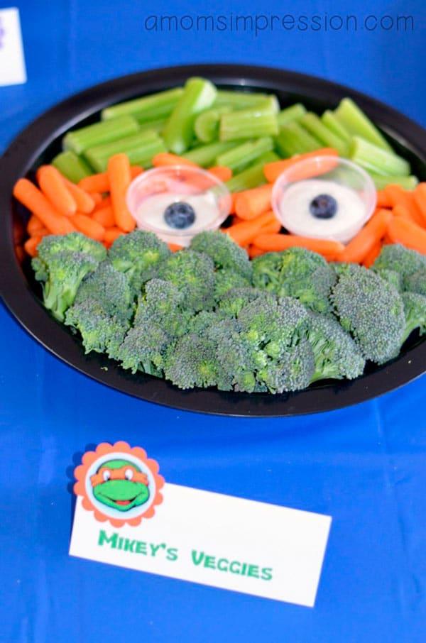 Fiestas infantiles de las Tortugas Ninja: personaliza tambien la comida