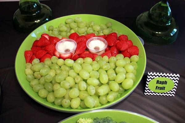 Fiestas infantiles de las Tortugas Ninja: comida personalizada