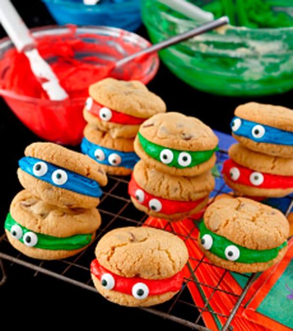Fiestas infantiles de las Tortugas Ninja: galletas personalizadas