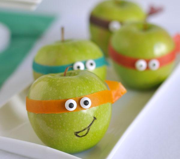 Fiestas infantiles de las Tortugas Ninja: comida sana y personalizada