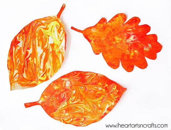 Manualidades de otoño: hojas hechas por tí