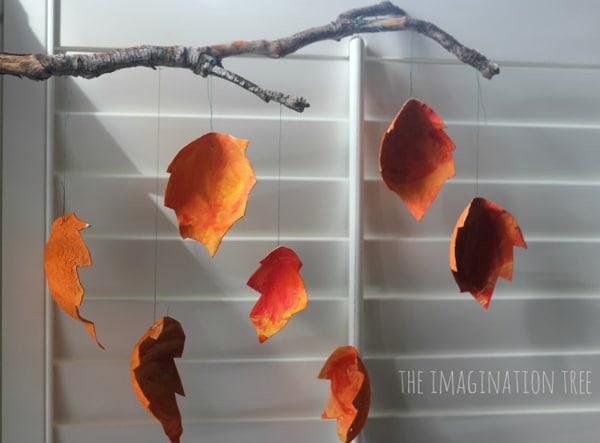 manualidades para niños hojas de otoño