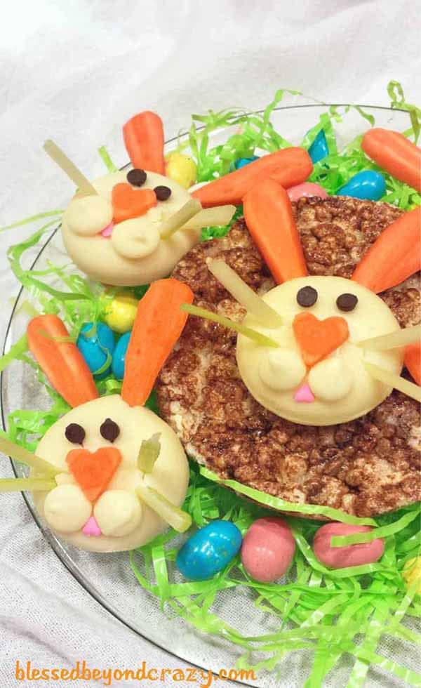 Recetas para niños: quesitos divertidos en forma de conejos