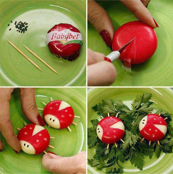 Recetas para niños: quesitos divertidos en forma de mariquitas