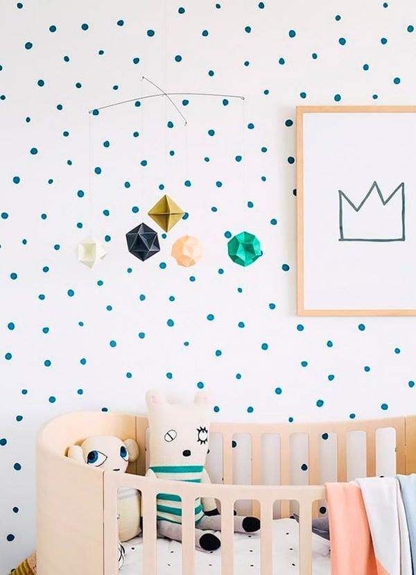 infantiles paredes con topos