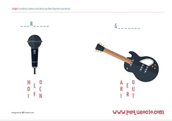50 fichas de lengua para imprimir gratis | Pequeocio.com
