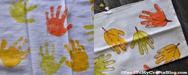 Manualidades infantiles de otoño: hojas hechas con la mano