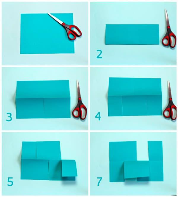 puzzle para niños de papel paso a paso