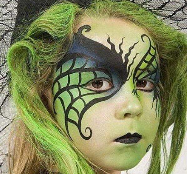 Como Hacer Un Maquillaje De Bruja Para Halloween Pequeociocom - Maquillaje-bruja-para-nia