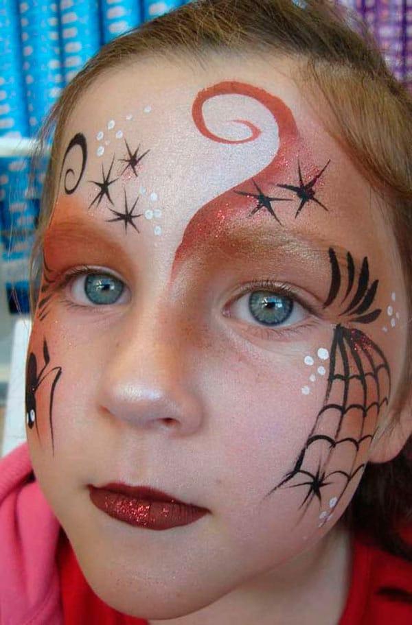 maquillaje de bruja para nina