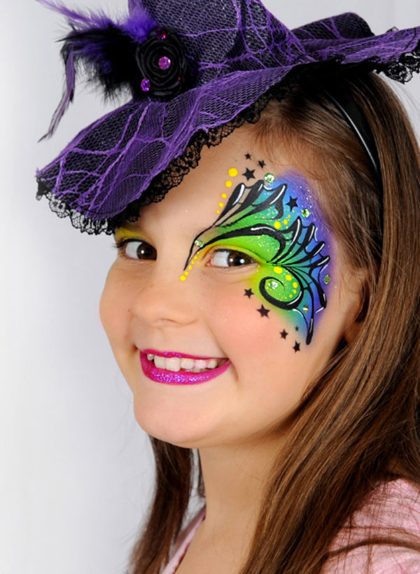 maquillaje de bruja nina