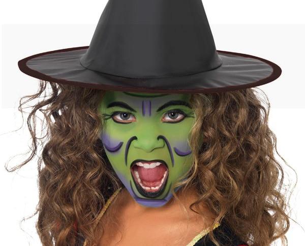 maquillaje de bruja verde para halloween